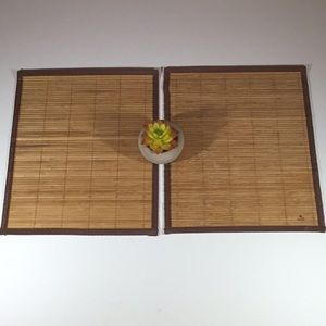 Set of 2 Bamboo Style Placemats